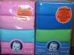 New Gerber 4 pk Prefolded Solid Cloth Diapers, Baby Shower,