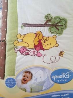 NEW DISNEY BABY POOH'S DAY IN THE PARK GREEN BROWN  DIAPER S