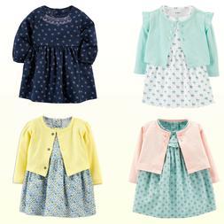 New Carter's Baby Girls' Long-Sleeve Dress & Diaper Cover