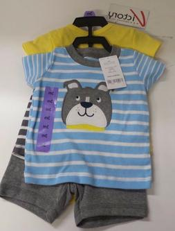 NEW Carters 4 Piece Boys Baby Diaper Cover Set Blue Yellow G