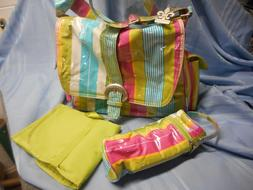 new coated diaper baby bag changing pad