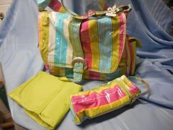NEW KALENCOM  COATED DIAPER BABY BAG CHANGING  PAD CASE MULT