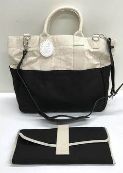 NEW Pottery Barn KIDS Fillmore Baby Diaper Bag Tote, BLACK &