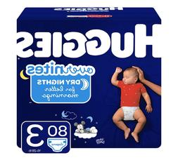 NEW LOOK - OverNites Diapers,Size 3-4-5, 80-68-58 ct.,Overni