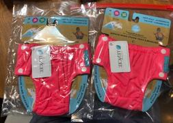 NEW Lot Of 2 Charlie Banana Baby Reusable Swim Diapers Fluor