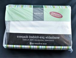 NEW! Organic Cotton - Kushies Washable Pre-Folded Diapers -
