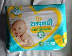 NEW Pampers Swaddlers Diapers Size 2X 32 Count  8-14lbs.  12