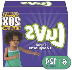 Luvs Ultra Leakguards Disposable Diapers, Size 6, 124 Count,