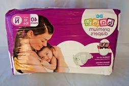 Newborn 40 Count Premium Diapers 10 lbs DG Baby Nb Cutout We