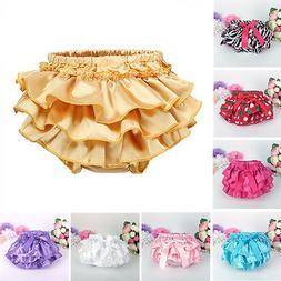 Newborn Baby Girls Ruffle Soft Bloomers Nappy Diaper Cover P