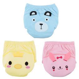 Baby Boys Girls Training Pee Potty Cloth Diaper Pants Nappy