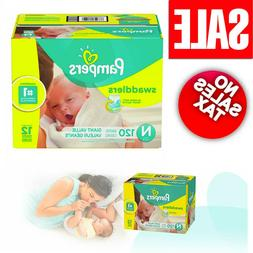 Pampers Newborn Size 120 Pack Swaddlers Disposable Baby Diap