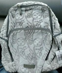 Vera Bradley Night Owls Gray Hadley Backpack Baby Diaper Har