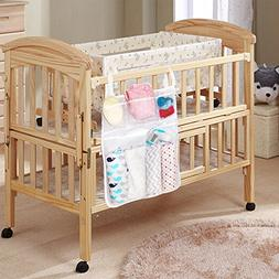 Nursery Organizer and Baby Diaper Caddy, Bed Hanging Storage