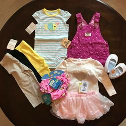 nwt baby girl 12 months clothing lot