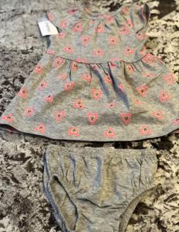 nwt baby girl carters dress and diaper