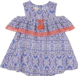 NWT BABY GIRL JESSICA SIMPSON COLD SHOULDER DRESS W/  DIAPER