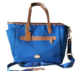 NWT Coach Blue Sawyer Baby Diaper Bag Large Tote New 37758