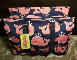 NWT NGIL▪Canvas Navy With Pink Whale Print▪Baby Diaper B