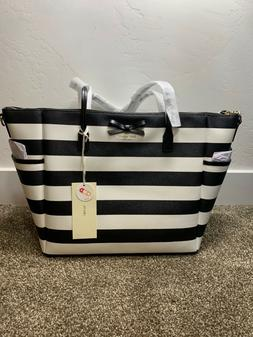 NWT Kate Spade Baby Diaper Bag Eden Street Stripe Adaira Bla