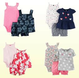 NWT New Carter's Baby Girls' 3-Piece Dot/Stripe Diaper Cover