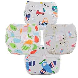 Fairy Baby Newborn Printed Cloth Fitted Diaper with Velcro P