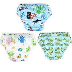 Wegreeco Baby & Toddler Snap One Size Reusable Baby Swim Dia