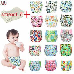 one size cloth diapers 5 inserts adjustable