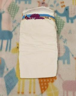one vintage diaper plastic backed size 6
