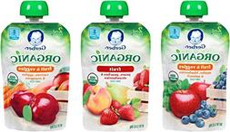 Gerber Organic 2nd Food Pouches, Fruit and Veggie Variety Pa