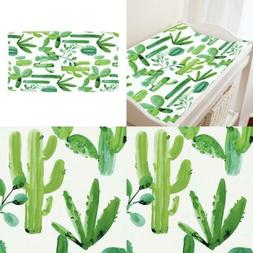 Organic Cotton Carousel Designs Green Painted Cactus Durable
