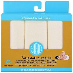 Charlie Banana Organic Cotton Multi Usage Wipes  10 Reusable