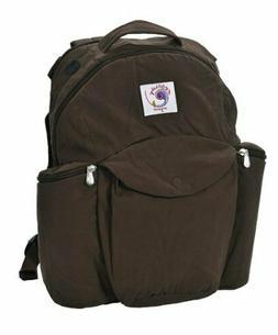 organic travel pack diaper backpack dark chocolate