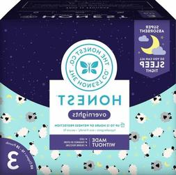 Honest Overnight Baby Diapers, Club Box, Sleepy Sheep, Size