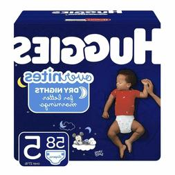 HUGGIES OverNites Diapers, Size 5, 58 Count, Overnight Diape