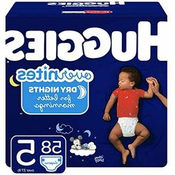 overnites nighttime diapers size 5 58 ct