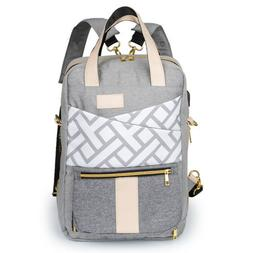 Oxford Baby Diaper Bag Nappy Backpack Change Pad Insulation