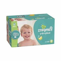Pampers Baby Dry Disposable Baby Diapers, Size 6,144 Count,