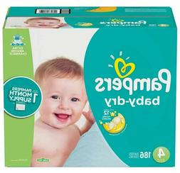 Pampers Baby Dry Disposable Diapers, Size 4 - 186 count