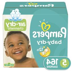 Pampers Baby-Dry Extra Protection Diapers, Size 5, 164 Ct