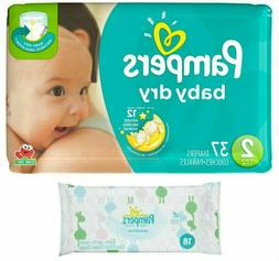 Pampers Baby Dry Size 2 Disposable Diapers - 37 Count  +