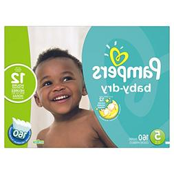Pampers Baby Dry Size 5 Diapers Economy Plus Pack - 160 Coun