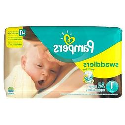 Pampers Swaddlers Diapers - Size 1 - 35 ct