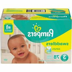 Pampers Swaddlers Diapers Super Pack Size 3 with 78 counts d