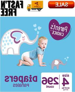 Parent's Choice Baby Diapers, Size 4, 296 Count, Hypoallerge