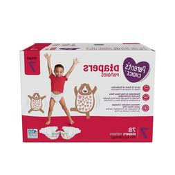 PARENT'S CHOICE DIAPERS, SIZE 7, 78 COUNT *DISTRESSED