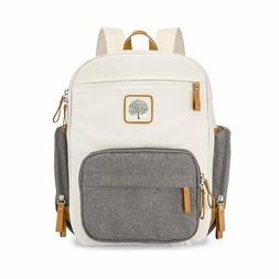 Parker Baby Diaper Backpack - Full Zip Diaper Bag with Insul