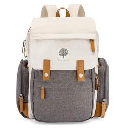 Parker Baby Diaper Backpack - Large Bag with Insulated Pocke