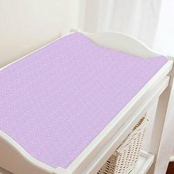 Carousel Designs Pastel Purple Confetti Changing Pad Cover -