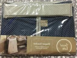 Trend Lab Perfectly Preppy Diaper Stacker Navy & Gray w/mini